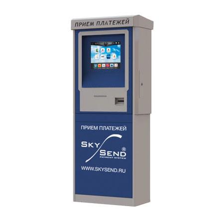 Уличный платежный автомат FastPay Tower II рассчитан на установку вне помещения