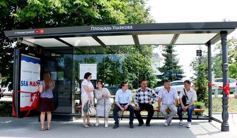 В Севастополе действуют 6 умных остановок