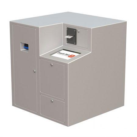 Компактная депозитная машина TouchPlat ДМ-04 - современный смарт-сейф для самостоятельной инкассации.