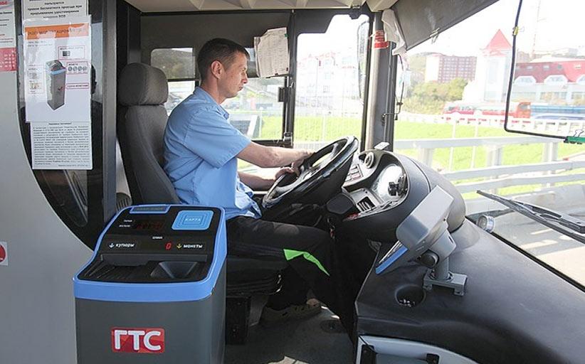 Как работают корейские платежные терминалы в автобусах Владивостока