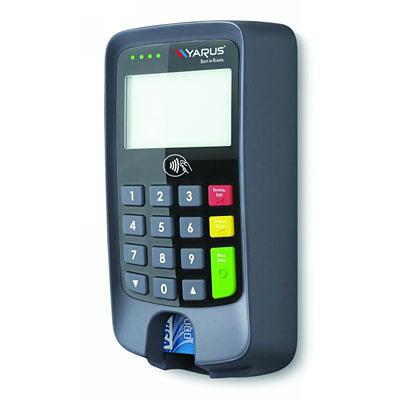 Для работы с картами автоматы оснащены пин-падами Yarus P2100 российского производства