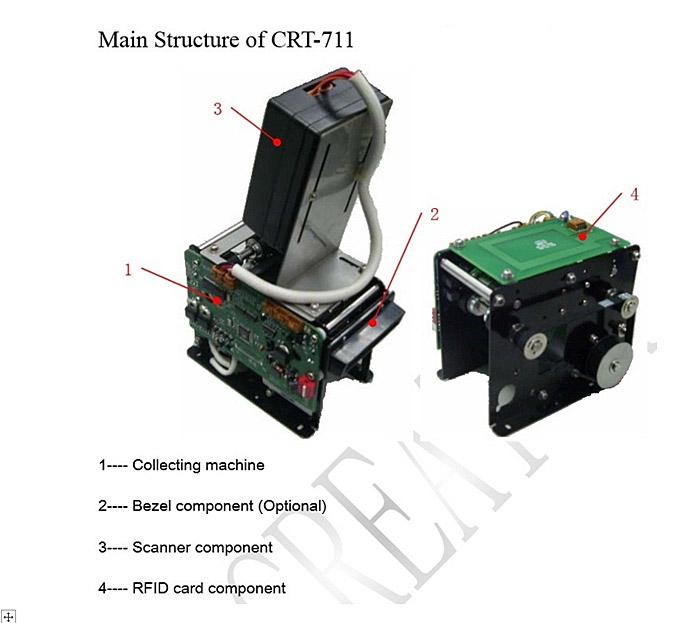 Коллектор карт CRT-711 (выдача/прием, чтение)