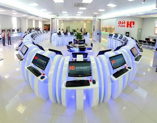 торговые терминалы в кибермаркетах «Юлмарт»
