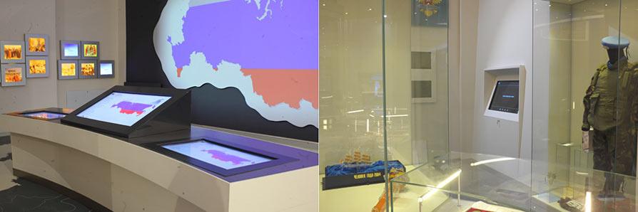 контент терминалов и музейные экспонаты образуют единое информационное пространство