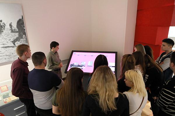 Интерактивный терминал в музейной экспозиции