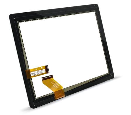 Работа сенсорного экрана через защитное покрытие