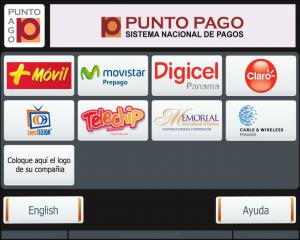 Интерфейс терминалов Punto Pago