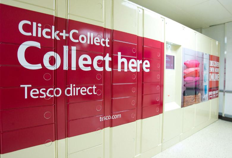 Уличные терминалы для сервиса Tesco Click and Collect