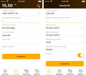 Процесс оплаты через мобильное приложение