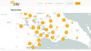 Карта терминалов самообслуживания Expressbank
