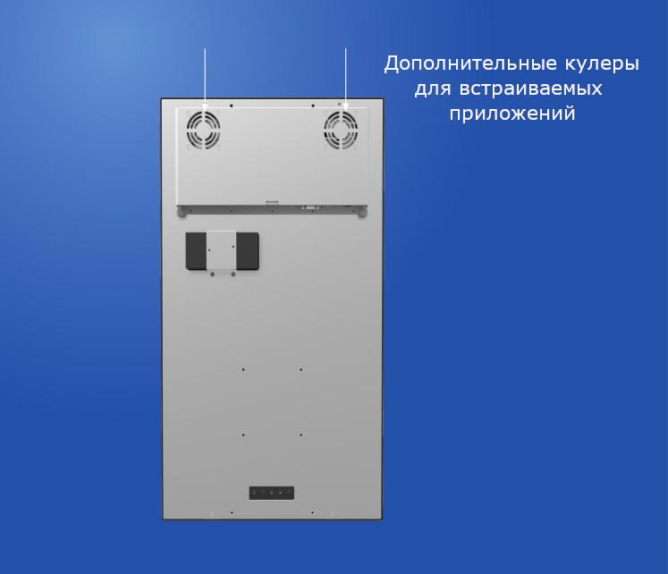 Дополнительное охлаждение встраиваемого сенсорного монитора