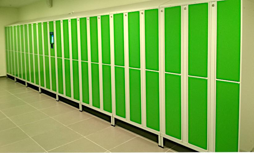 Автоматические шкафы для раздевалок в фитнес-клубах / на заводах