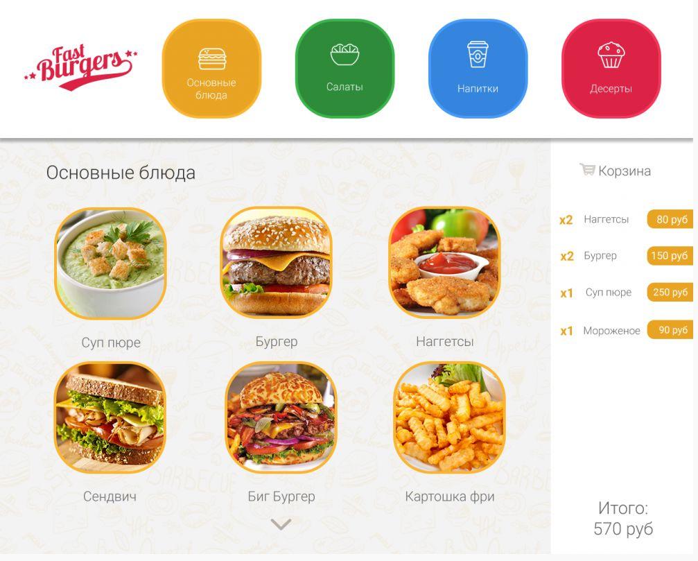 Электронное меню и самозаказ в ресторане