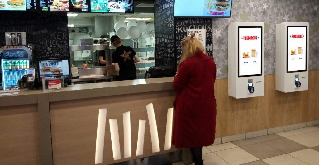 Терминалы заказа в ресторане Hesburger