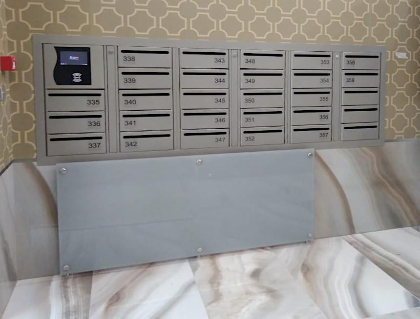 Почтовый автомат с закрытой задней стенкой