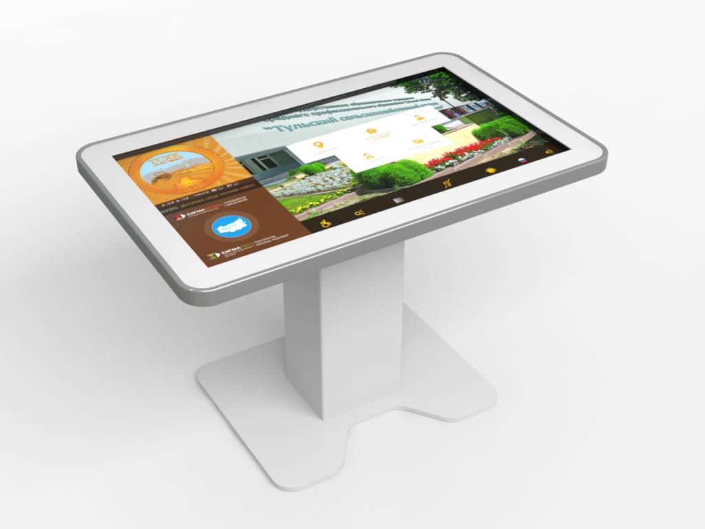 Сенсорный (иинтерактивный) стол на выставке