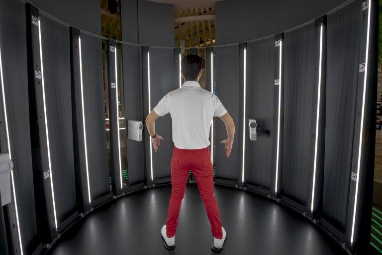 квантовый сканер человеческого тела в интерактивной рекламе  Shiseido