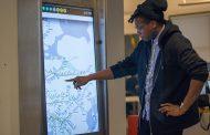 Футуристические интерактивные киоски в нью-йоркском метро