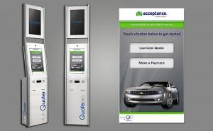 Quotepro устанавливает терминалы самообслуживания для оплаты счетов в автосалонах и страховых компаниях
