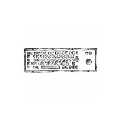 Антивандальная металлическая клавиатура SN343TB