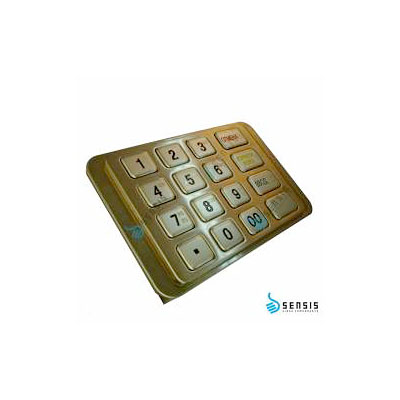 Антивандальная 16-ти клавишная криптующая клавиатура SZZT ZT588C