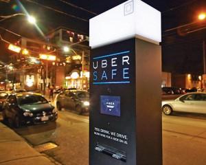 Сервис Uber устанавливает сенсорные киоски для вызова такси