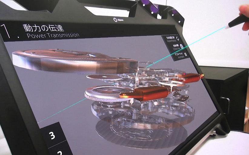 Интерактивные киоски моделируют реальность в музее часов Seiko
