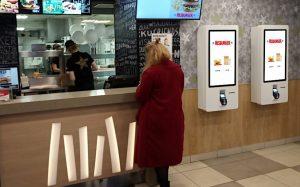 Терминалы самообслуживания TouchPlat - в ресторанах Хесбургер