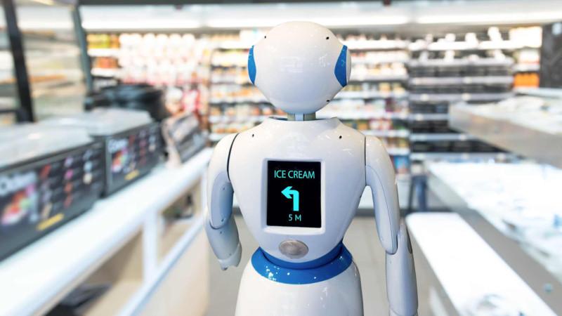 Робот-консультант с ИИ в магазине