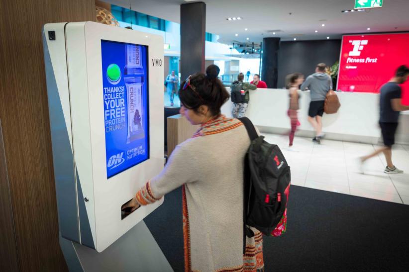 Сеть фитнес-центров устанавливает интерактивные терминалы для выдачи пробников