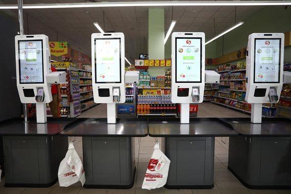 Кассы самообслуживания собственного производства X5 Retail Group в Пятерочках
