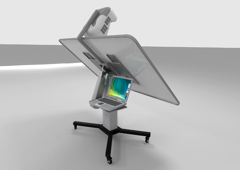 Интерактивный кульман с подключенным ноутбуком