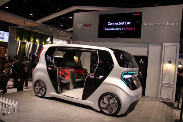 Беспилотный автомобиль LG c IOT