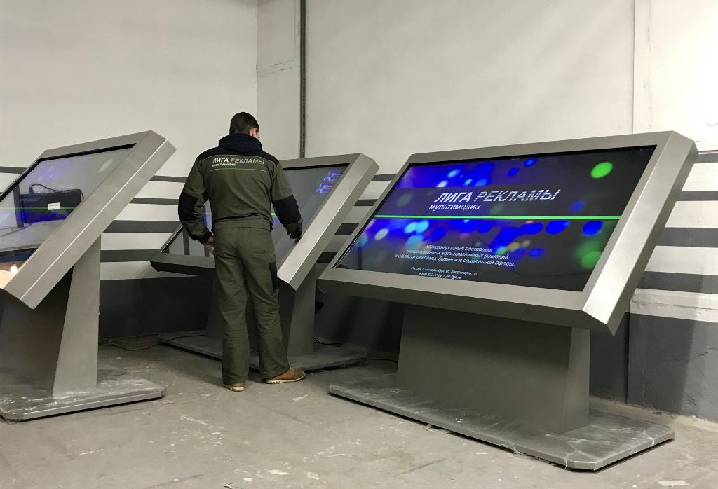 Интерактивные столы больших диагоналей от «Лига Рекламы»