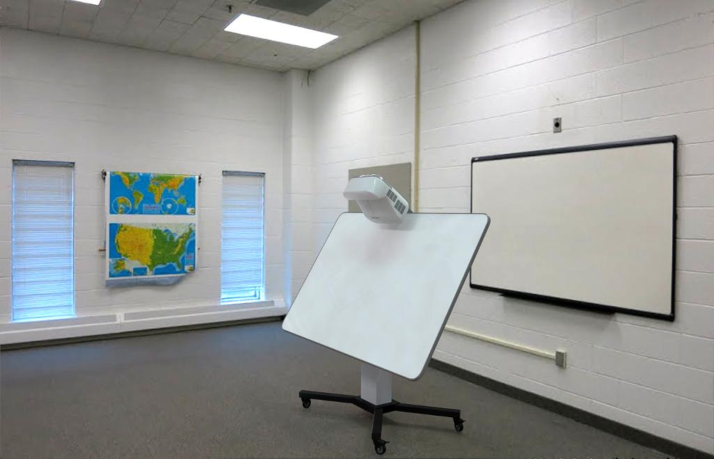 Интерактивная доска для школ с электроприводом
