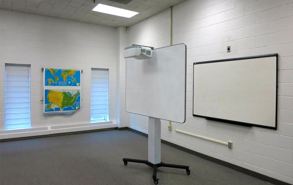 Интерактивная доска с регулируемой высотой и изменяемым углом наклона