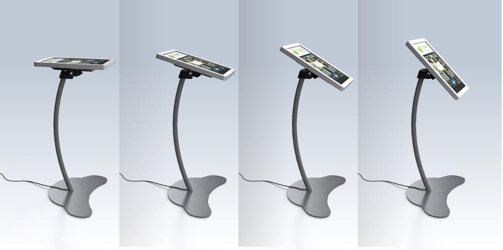 Интерактивный терминал «Моноблок» с регулируемым углом наклона экрана