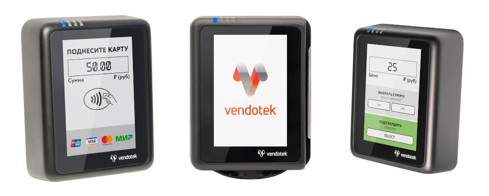 Терминалы безналичной оплаты «Vendotek»